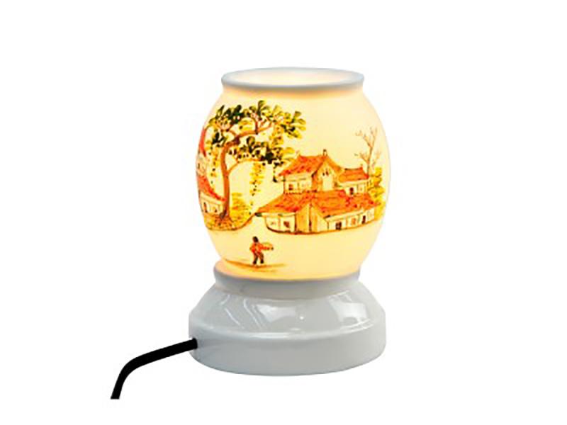Đèn xông tinh dầu vẽ làng xóm S3 – Gốm sứ Bát Tràng