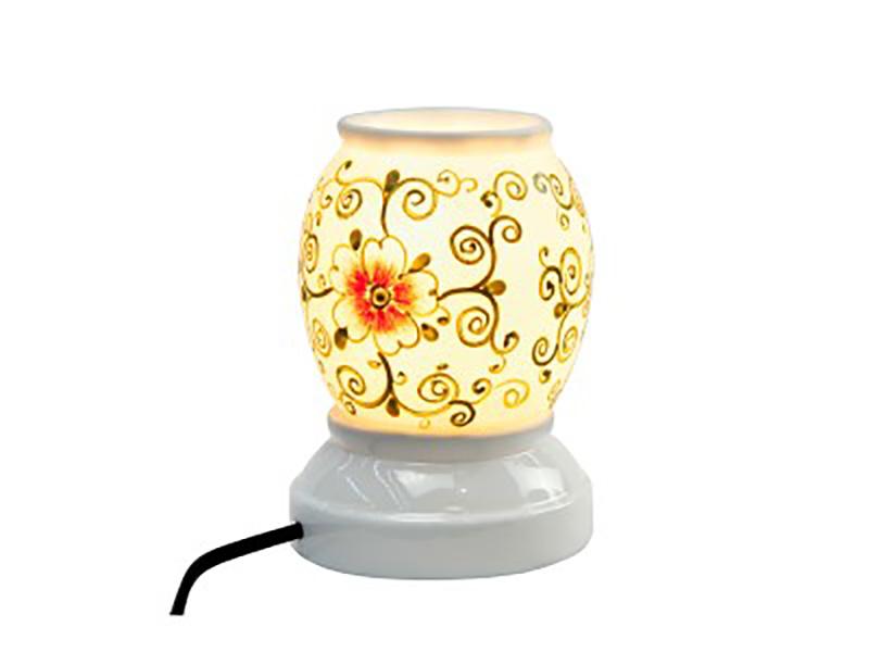 Đèn xông tinh dầu vẽ hoa S3 – Gốm sứ Bát Tràng