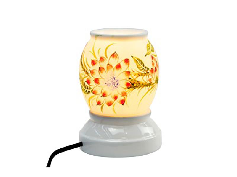 Đèn xông tinh dầu vẽ hoa S1 – Gốm sứ Bát Tràng