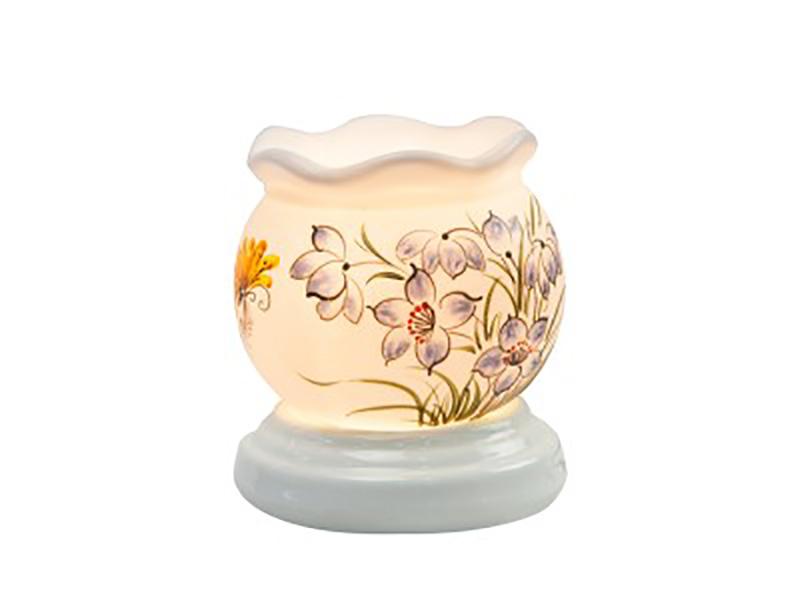 Đèn xông tinh dầu vẽ hoa cổ loe S2 – Gốm sứ Bát Tràng
