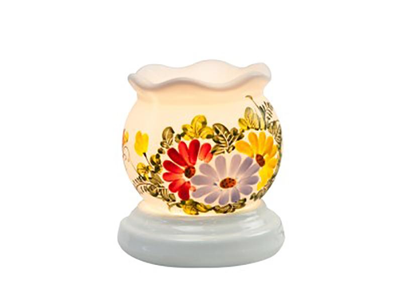 Đèn xông tinh dầu vẽ hoa cổ loe S3 – Gốm sứ Bát Tràng