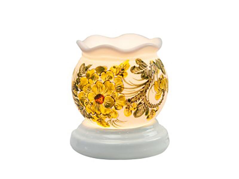 Đèn xông tinh dầu vẽ hoa cổ loe S4 – Gốm sứ Bát Tràng