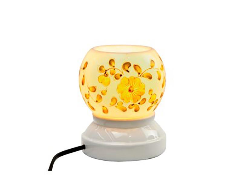 Đèn xông tinh dầu vẽ hoa S11 – Gốm sứ Bát Tràng