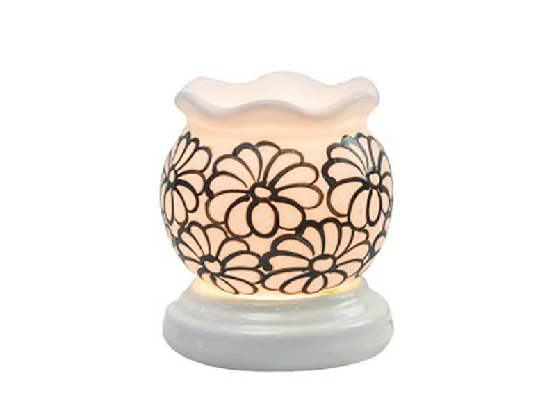 Đèn xông tinh dầu vẽ hoa cổ loe – Gốm sứ Bát Tràng