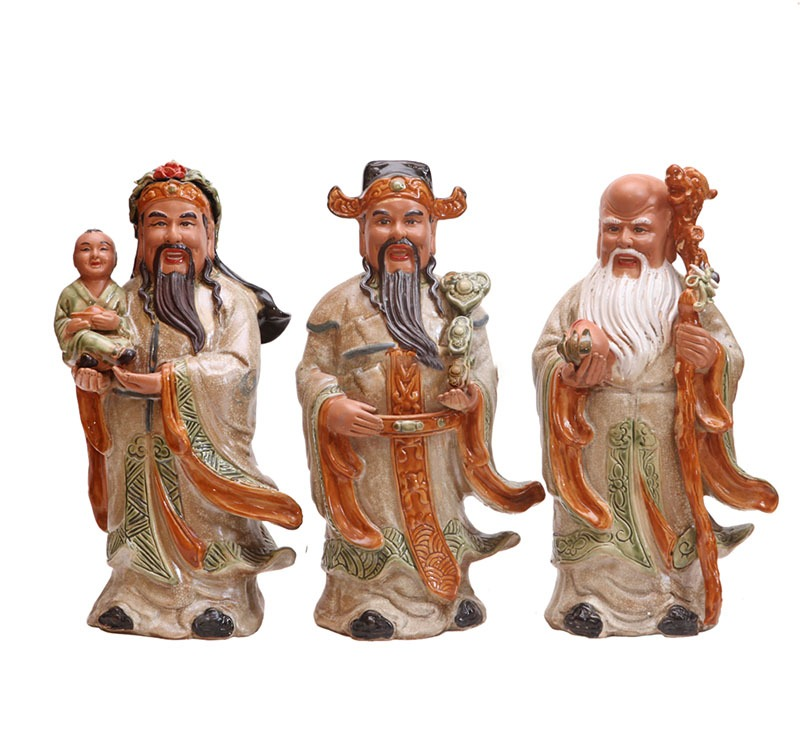 Tượng gốm Tam Đa – Cao 40cm – Gốm Sứ Bát Tràng