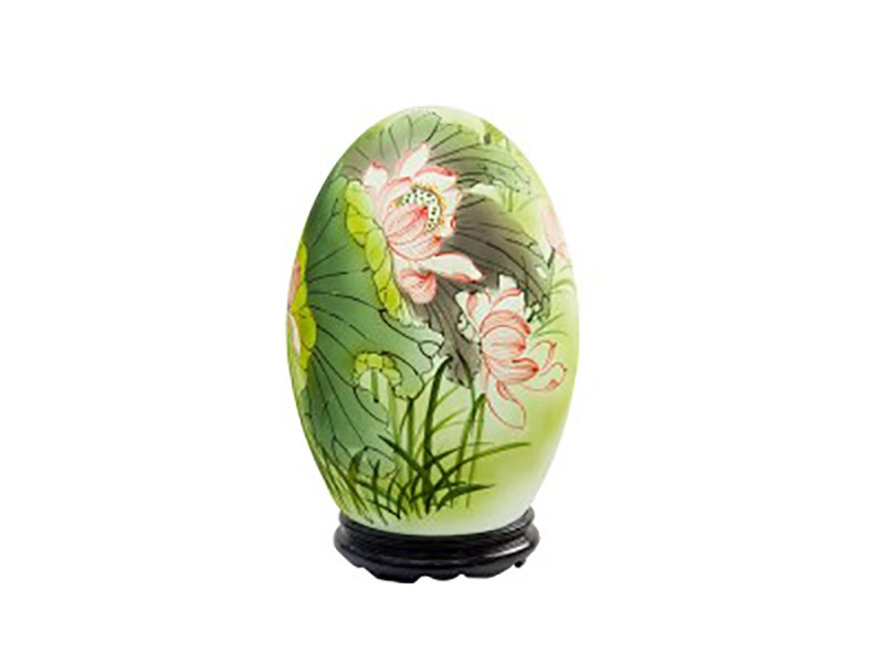 Đèn xông tinh dầu vẽ hoa sen – Gốm sứ Bát Tràng