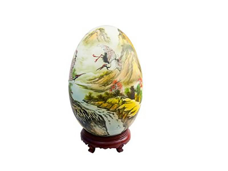 Đèn xông tinh dầu vẽ chim hạc S1 – Gốm sứ Bát Tràng