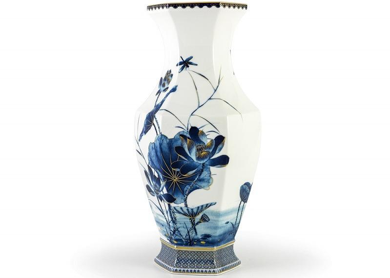 Bình hoa Minh Long Vẽ Tứ Linh – 50cm