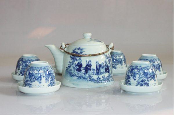 Bộ ấm trà, Bộ ấm trà Bát Tràng Trúc Lâm Thất Hiền