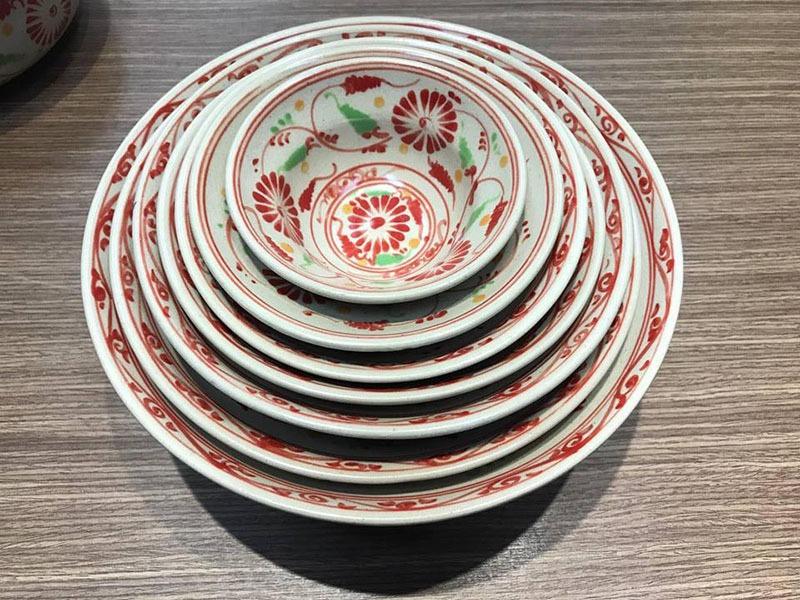 Tô Yêu Bát Tràng Tam Thái Hoa Cúc Đỏ