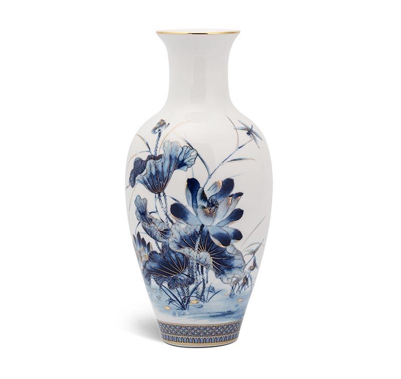 Bình hoa Minh Long Sen Vàng – 30cm