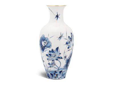 Bình hoa Minh Long, Bình hoa Minh Long 40cm - Sen Vàng