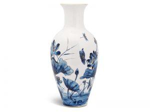 Bình hoa Minh Long, Bình hoa Minh Long 45 cm - Sen Vàng