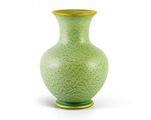 Bình hoa Minh Long, Bình hoa Minh Long Hỏa Biến - Vân Ngọc Matte Chỉ Vàng