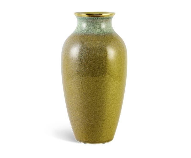 Bình hoa Minh Long hỏa biến – Xanh Vân Ngọc 5 – 27cm