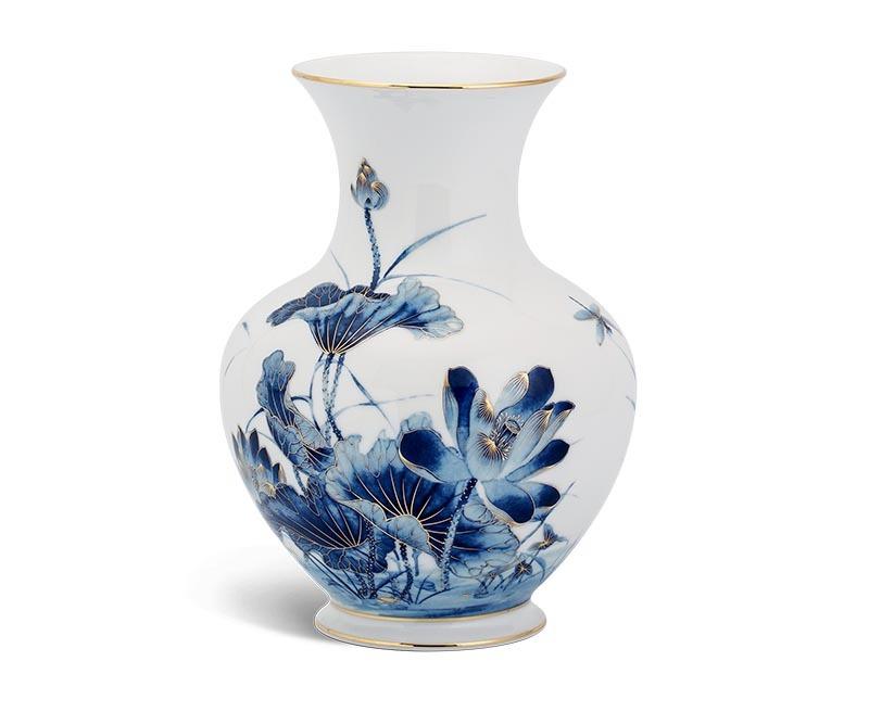 Bình hoa Minh Long, Bình hoa Minh Long 22 cm - Sen Vàng