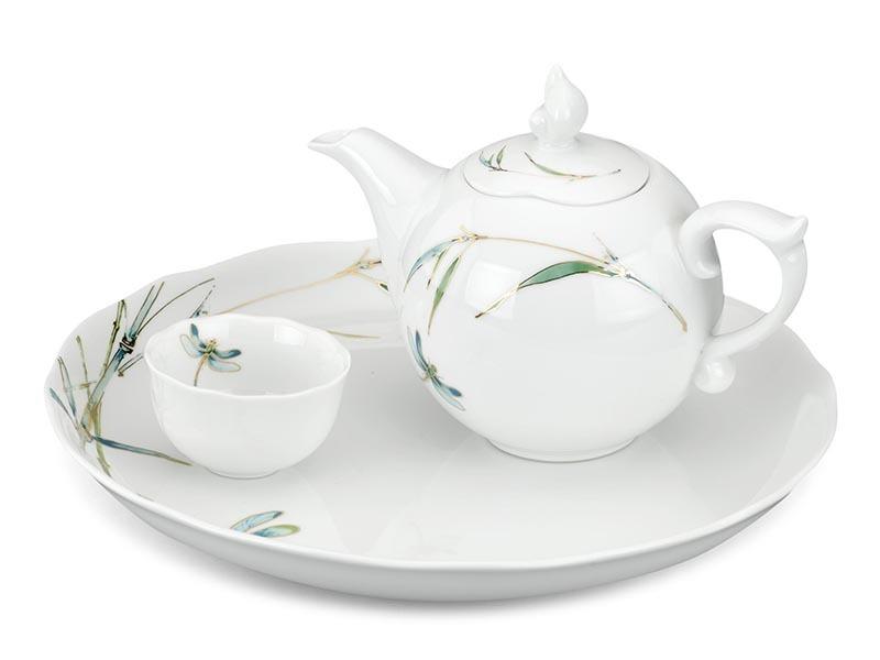 Bộ ấm trà Minh Long – Mẫu Đơn IFP Thanh Trúc 0.3L