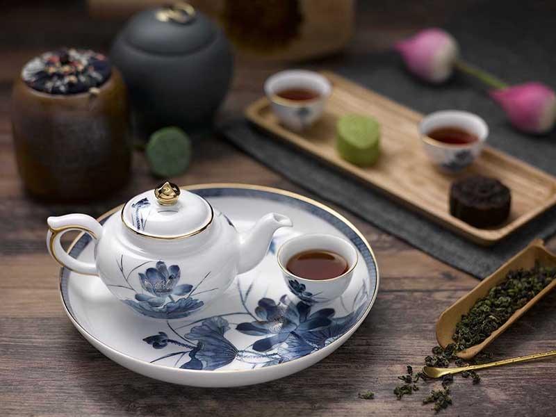 Bộ trà Minh Long Jasmine Sen Vàng 0.35L