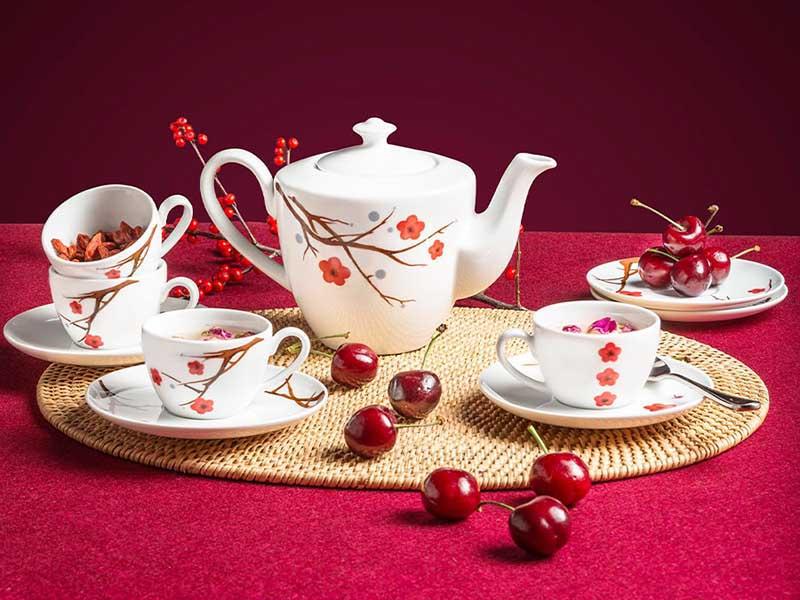 Bộ trà Minh Long Daisy Hồng Mai 0.65L