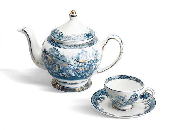 Bộ trà Minh Long, Bộ trà Minh Long Hoàng Cung Hồn Quê Vàng
