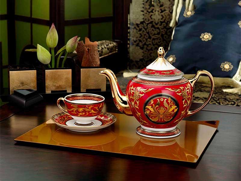 Bộ trà Minh Long Hoàng Cung Quốc Sắc 0.8L