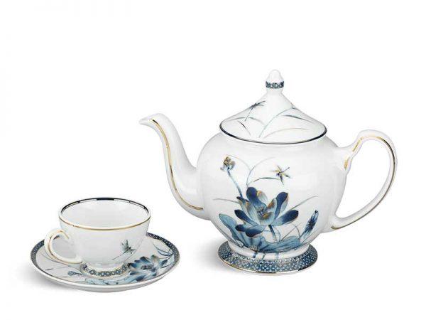 Bộ trà Minh Long, Bộ trà Minh Long Hoàng Cung Sen Vàng