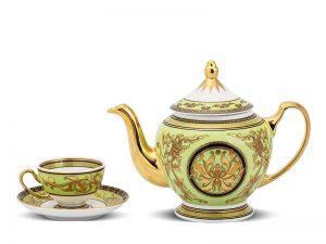 Bộ trà Minh Long, Bộ trà Minh Long Hoàng Cung Thiên Hương (Xanh Lá)