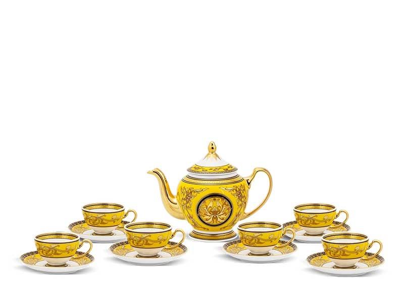 Bộ trà Minh Long Hoàng Cung Thiên Hương Vàng 0.8L