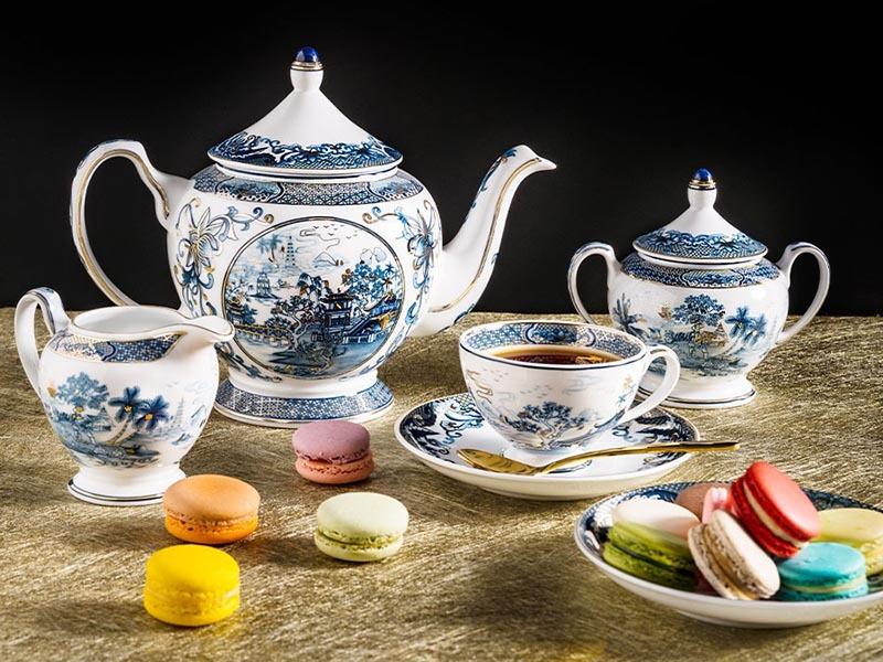 Bộ trà Minh Long Hoàng Cung Hồn Việt Vàng 1.3L