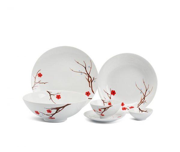 Bộ bàn ăn Minh Long, Bộ bàn ăn Minh Long Daisy Hồng Mai