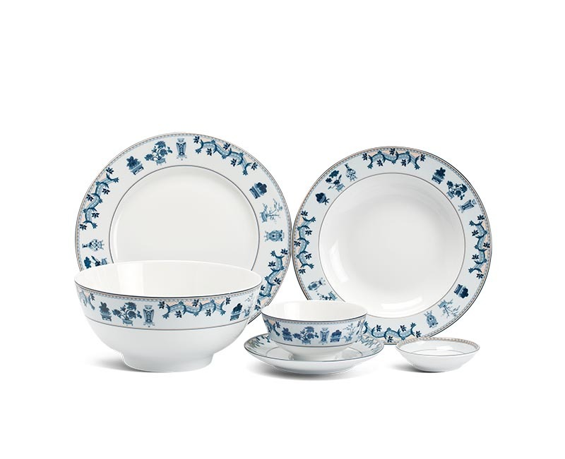 Bộ bàn ăn Minh Long Jasmine Tứ Quý – 36 sản phẩm