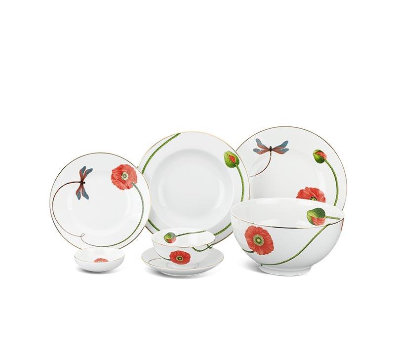 Bộ bàn ăn Minh Long Camellia Kết Duyên – 48 sản phẩm