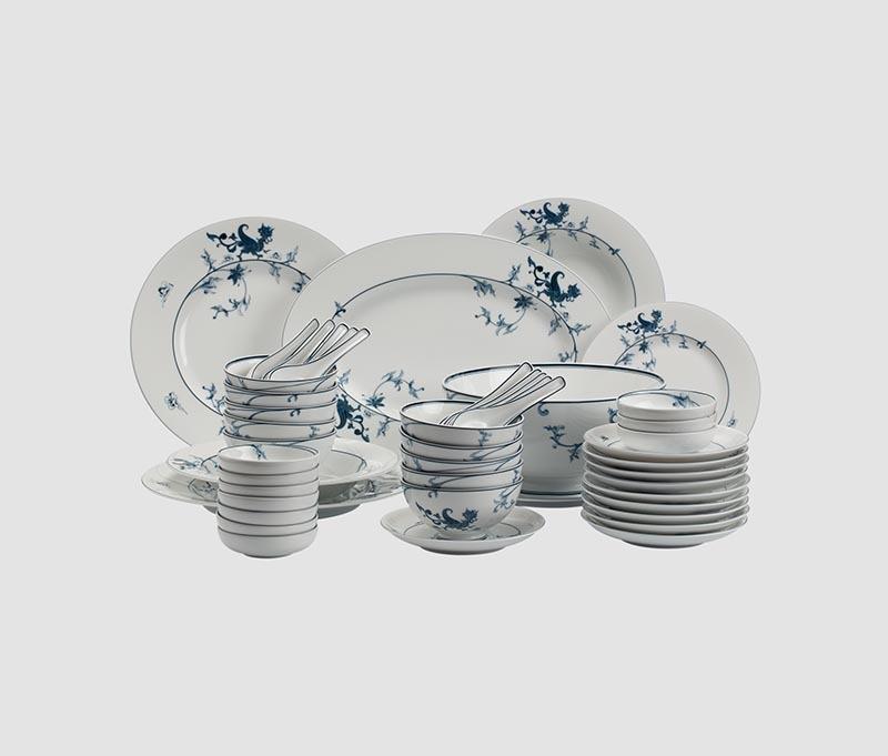 Bộ bàn ăn Minh Long Hoàng Cung Lạc Hồng – 48 sản phẩm