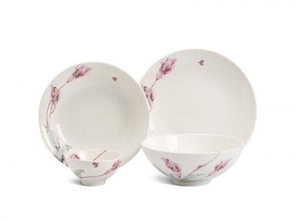 Bộ bàn ăn Minh Long, Bộ bàn ăn Minh Long Daisy IFP Loa Kèn Hồng