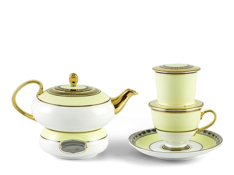 Bộ pha trà nghệ thuật Minh Long Anna Hoàng Kim 0.47L
