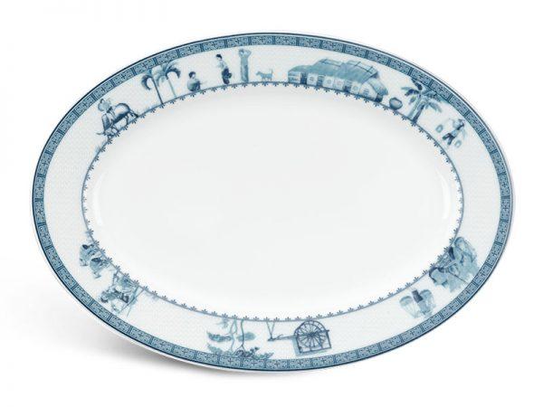 Dĩa oval Minh Long, Dĩa oval Minh Long Jasmine Thôn Dã