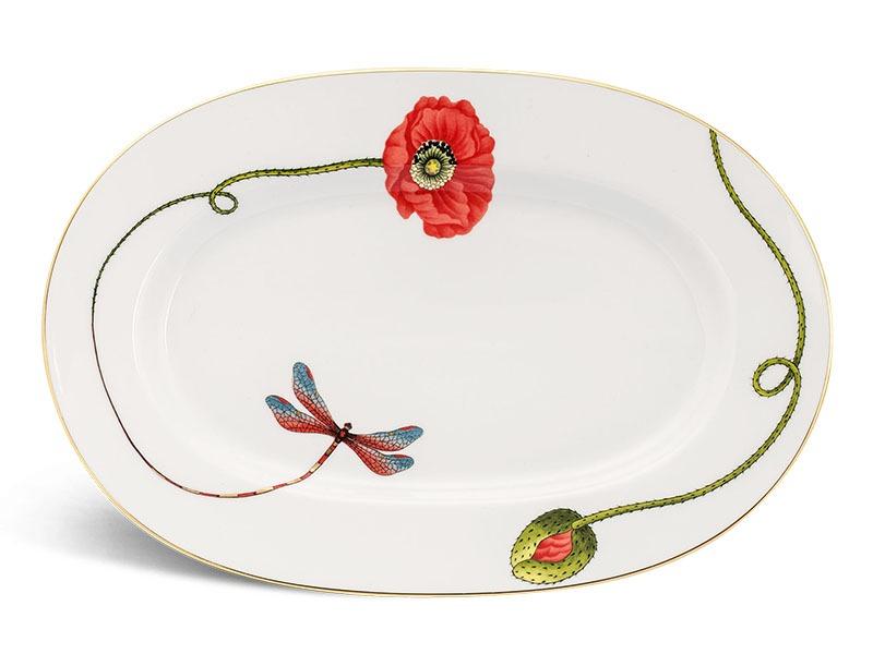 Dĩa oval Minh Long Camellia Kết Duyên 32cm
