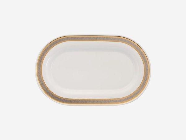 Dĩa oval Minh Long, Dĩa oval Minh Long Sago Hoa Hồng