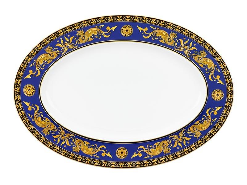 Dĩa oval Minh Long Hoàng Cung Cẩm Tú 37cm