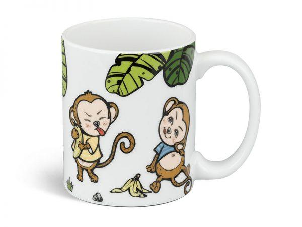 Ly sứ Minh Long, Ly sứ Minh Long Vẽ Đôi Khỉ Nô đùa