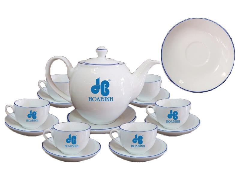 Địa chỉ in logo lên bộ ấm trà Bát Tràng làm quà tặng uy tín?