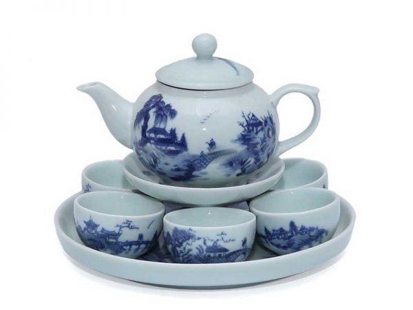 bộ ấm trà, bộ ấm chén. ấm trà bát tràng