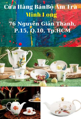 Cửa hàng bán bộ ấm trà Gốm Sứ Minh Long