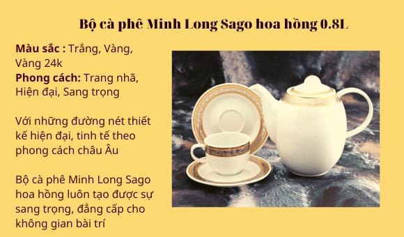 Một số bộ ấm chén cà phê Minh Long được nhiều người yêu thích nhất